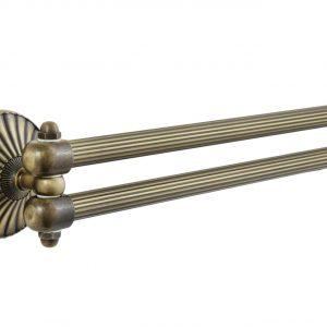 Полотенцедержатель рога OPAL бронза 2е 41см BR OP013