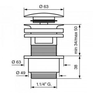 Донный клапан EMMEVI CLICK CLACK CO5524 CR хром