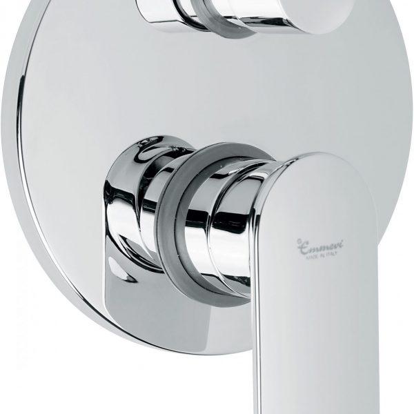 Смеситель для ванны KIRY ванна-душ встроенная 3поз хром CR88029