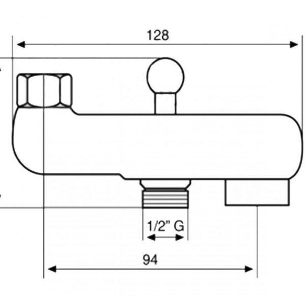 Гусак EM 1-2 с переключателем на для душа CR9880