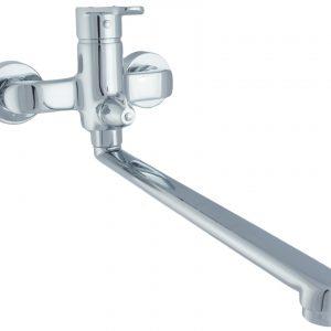 Смеситель КВИНТА для ванны хром L320 без аксессуаров MXAL0337