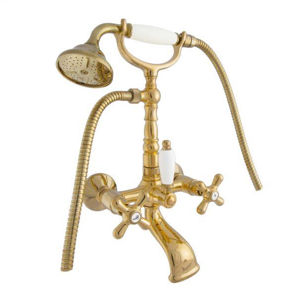 Смеситель для ванны DECO old ВЫСОКИЙ золото OR12611 с-акс