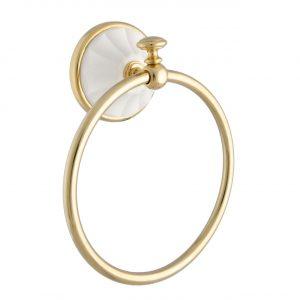 Полотенцедержатель кольцо MARGHERITA золото-белый ORBI MG015