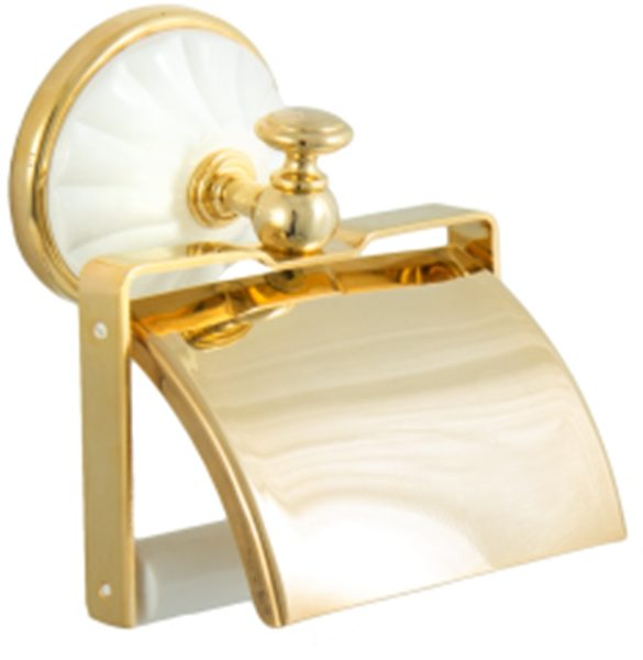 Бумагодержатель ALL MARGHERITA золото-белый ORBI MG0219
