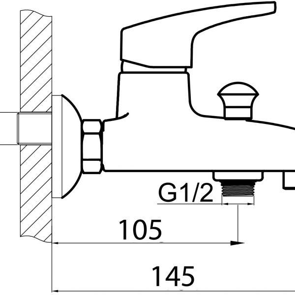 Смеситель для ванны Formix БЛИЦ хром с акс. SLBN2035z