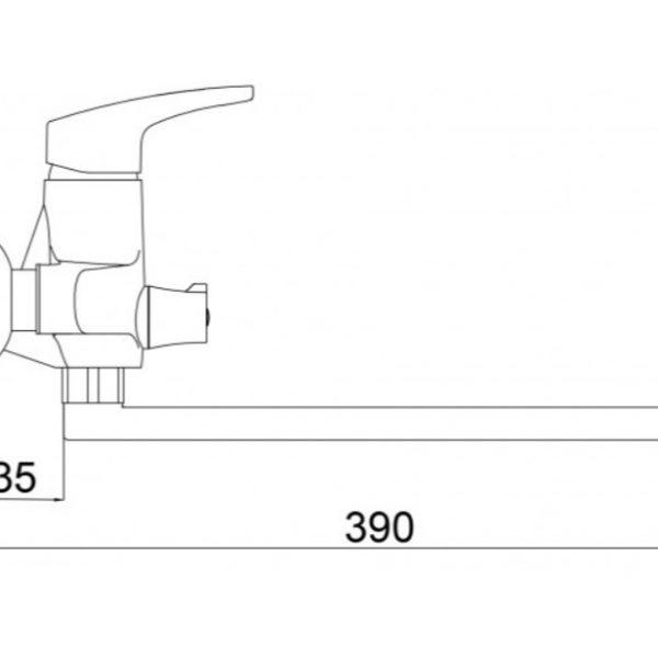 Смеситель для кухни Formix ГАМСГРАТ SLBN2036 хром
