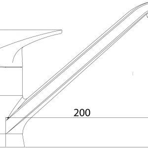 Смеситель для кухни Formix АЯКС (креп.гайка) SLBN2052z